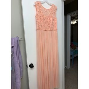 Dresses & Skirts - light peach/coral lace top dress size 12